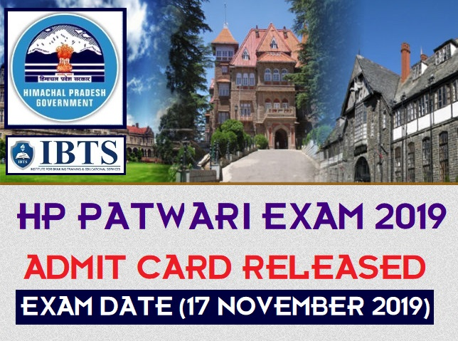 HP Patwari Admit Card 2019 Released, Download HP Patwari Admit Card Here
