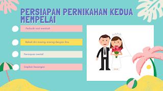 Persiapan pernikahan mempelai