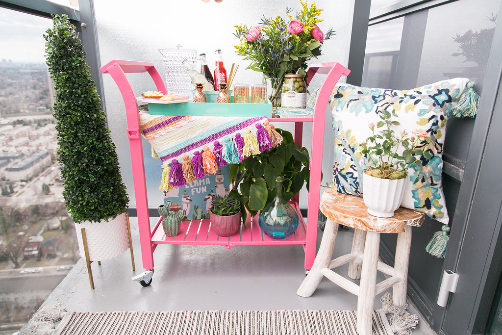Bijuleni | How to Entertain in a small condo patio with HomeSense