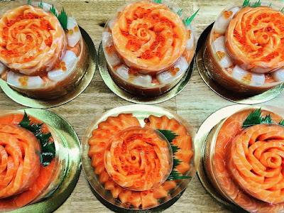 Naked Salmon Sashimi Cake from Salmon HQ