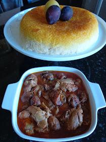 La mia cucina persiana Pollo alle Prugne  Khoresh Alu