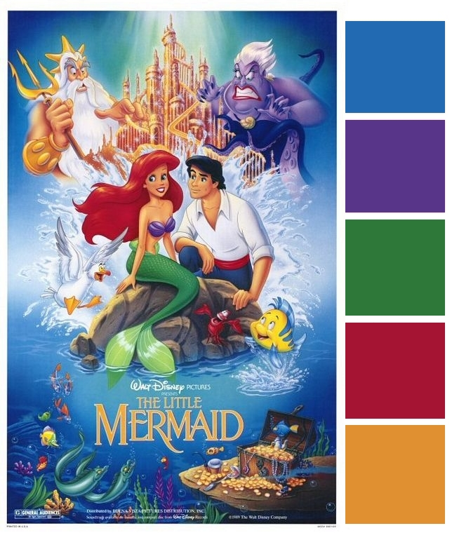 Poster Palette The Little Mermaid This Fairy Tale Life