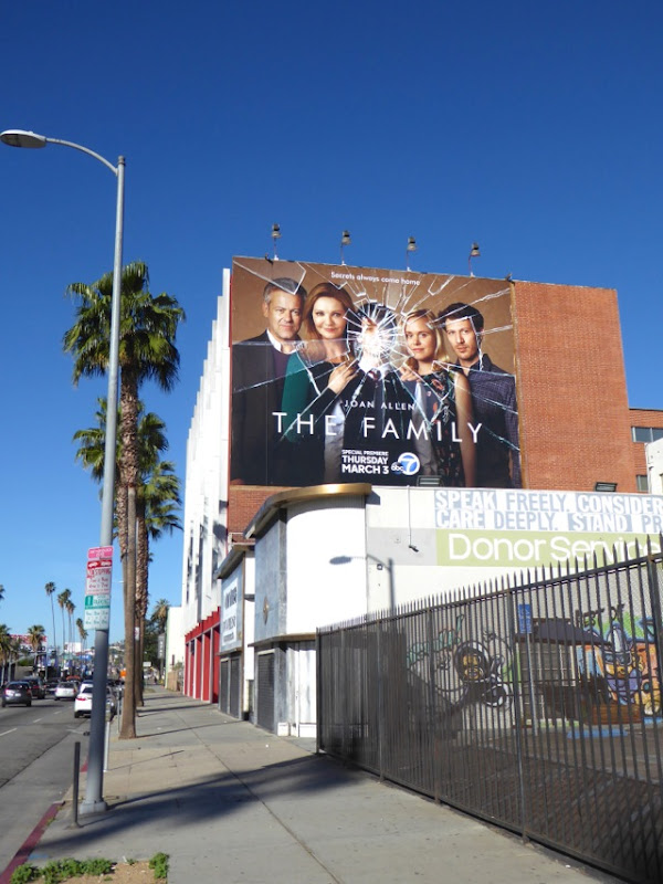 The Family series launch billboard