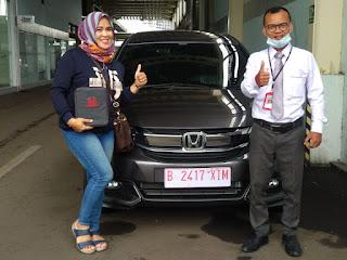 Honda Bekasi Utara , serah terima mobilio warna abu abu di dealer resmi mobil honda harapan indah bekasi
