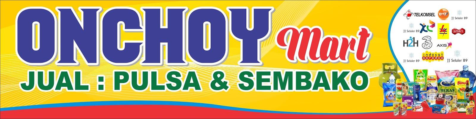 Banner Toko Sembako Dan Pulsa - contoh desain spanduk