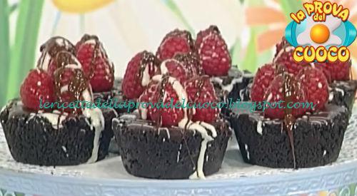 Ricetta dei Tortini al cioccolato e lamponi da La Prova del Cuoco