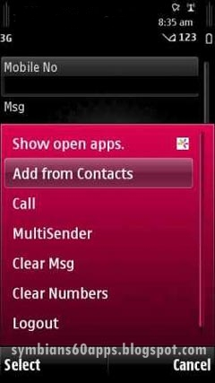 way2sms app download for symbian mobile