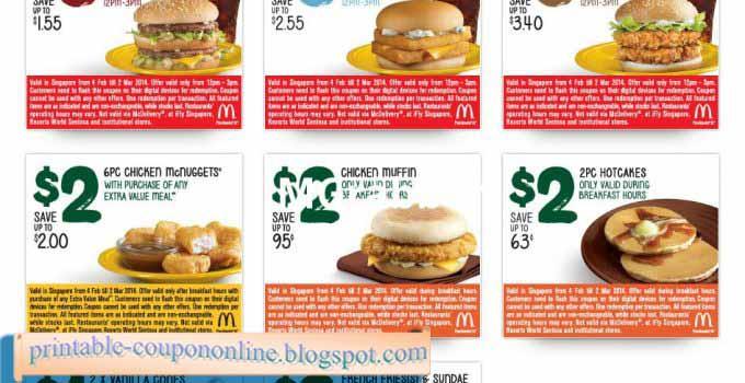 Mcdonalds breakfast coupons 2018 printable
