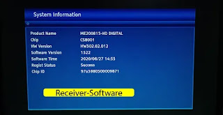 Hw302.02.012 Montage Chip Cs8001 New Receiver Software