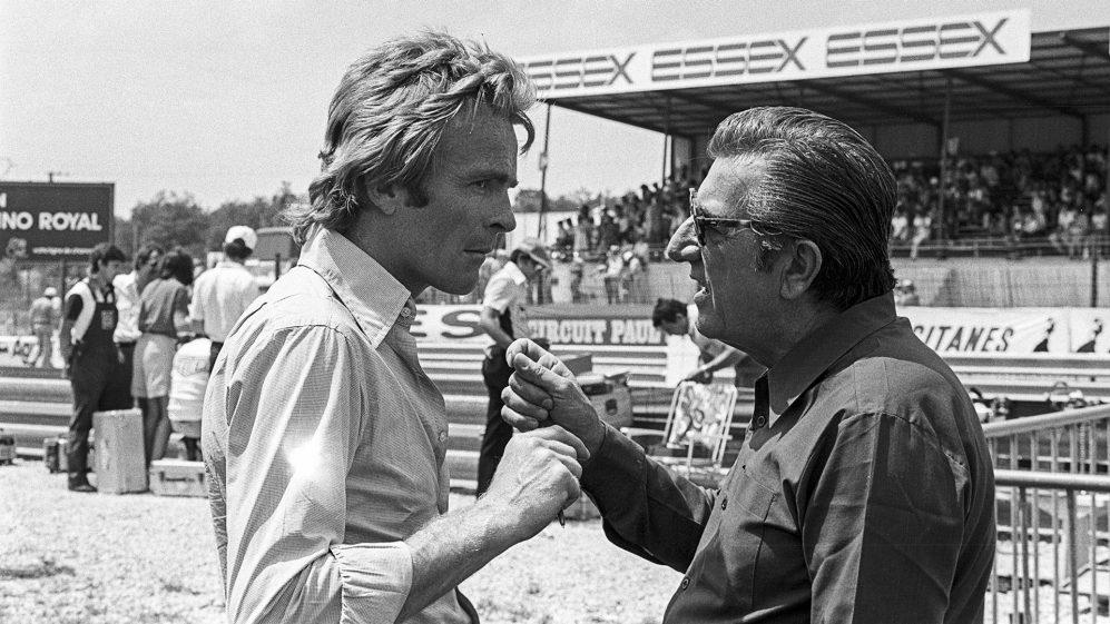 Max Mosley com Jean-Marie Balestre, que ele sucedeu como presidente da FIA em 1991