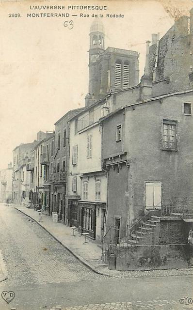CPA Rue de la Rodade à Montferrand Auvergne.