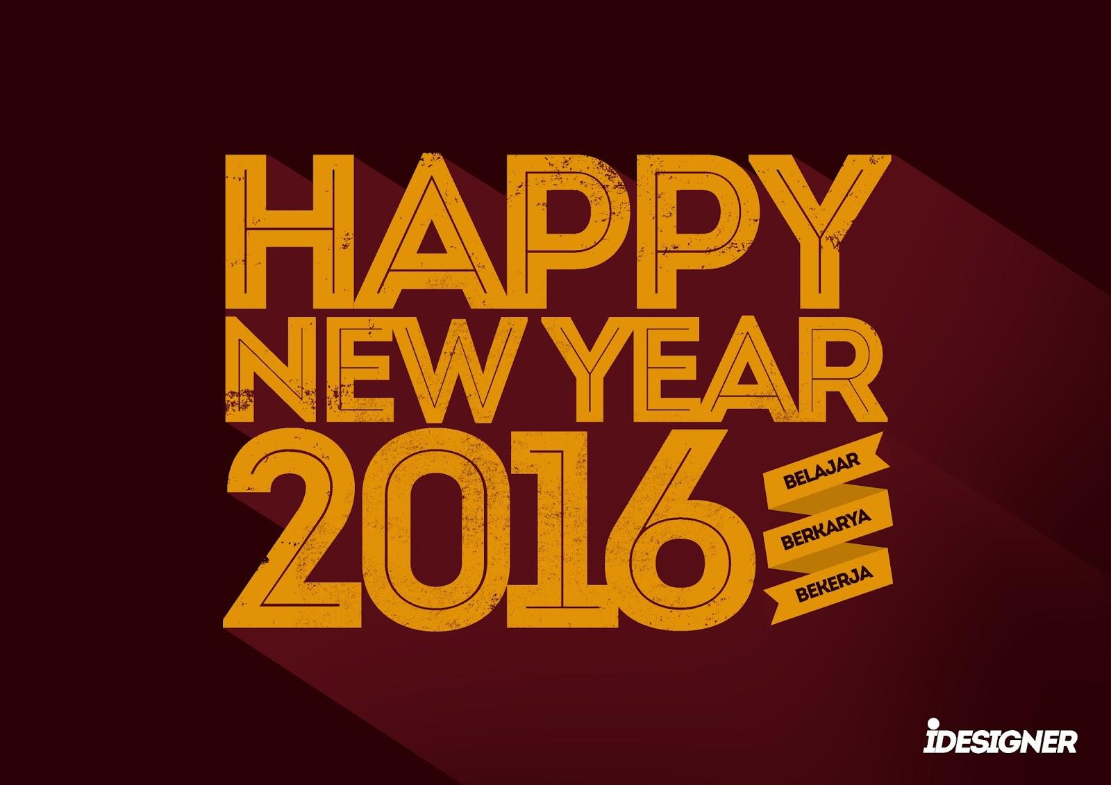 8 Download Desain Epic Untuk DP Happy New Year 2016 Lincung Studio