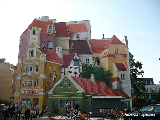 Na zdjęciu mural trójwymiarowy na poznańskiej Śródce.