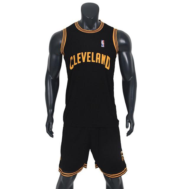 Áo bóng rổ Cleveland màu đen chất