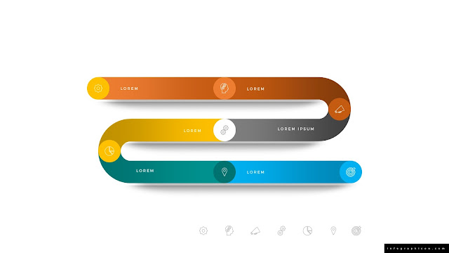 Editable Gradient Timeline Infographic Elements for PowerPoint