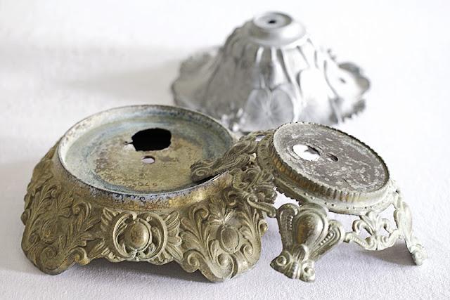 vintage metal lamp bases