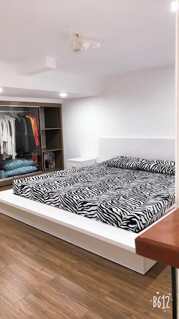 phòng ngủ bên trong căn hộ M-one Nam Sài Gòn.