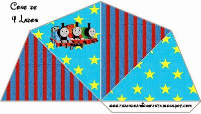 Thomas the Train Free Printable Cones Box.