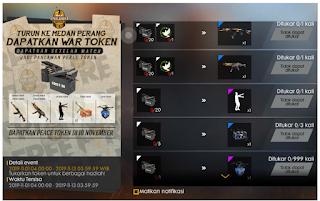 Cara mendapatkan peace emblem Free Fire FF dan Token Ammo Box FF