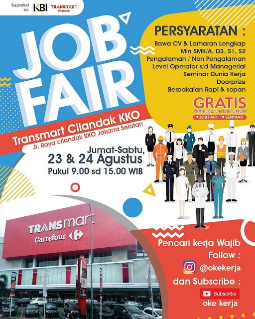 Job Fair Transmart Cilandak Jakarta Selatan, GRATIS!!!