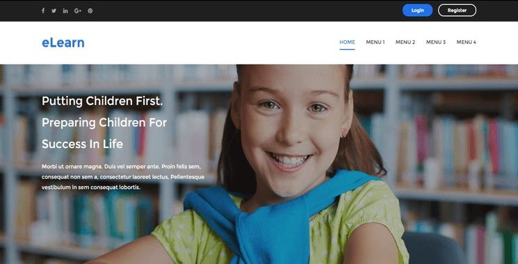 Responsive Educational eLearn Blogger Template
