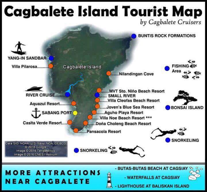 Cagbalete Island Tourism Map Travel Guide