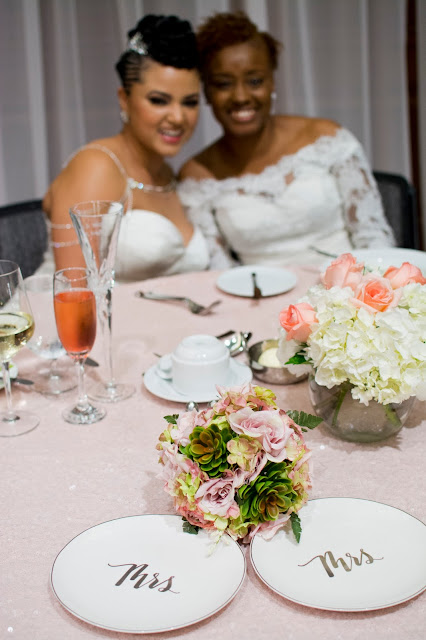 Deep South Brides at 21C Museum Hotel  shot on location by fine art wedding photographer Angela Cappetta at their sweetheart table