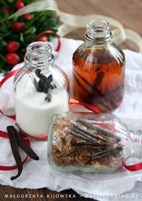 jak zrobić domowy cukier waniliowy, przepis na esencję waniliową
