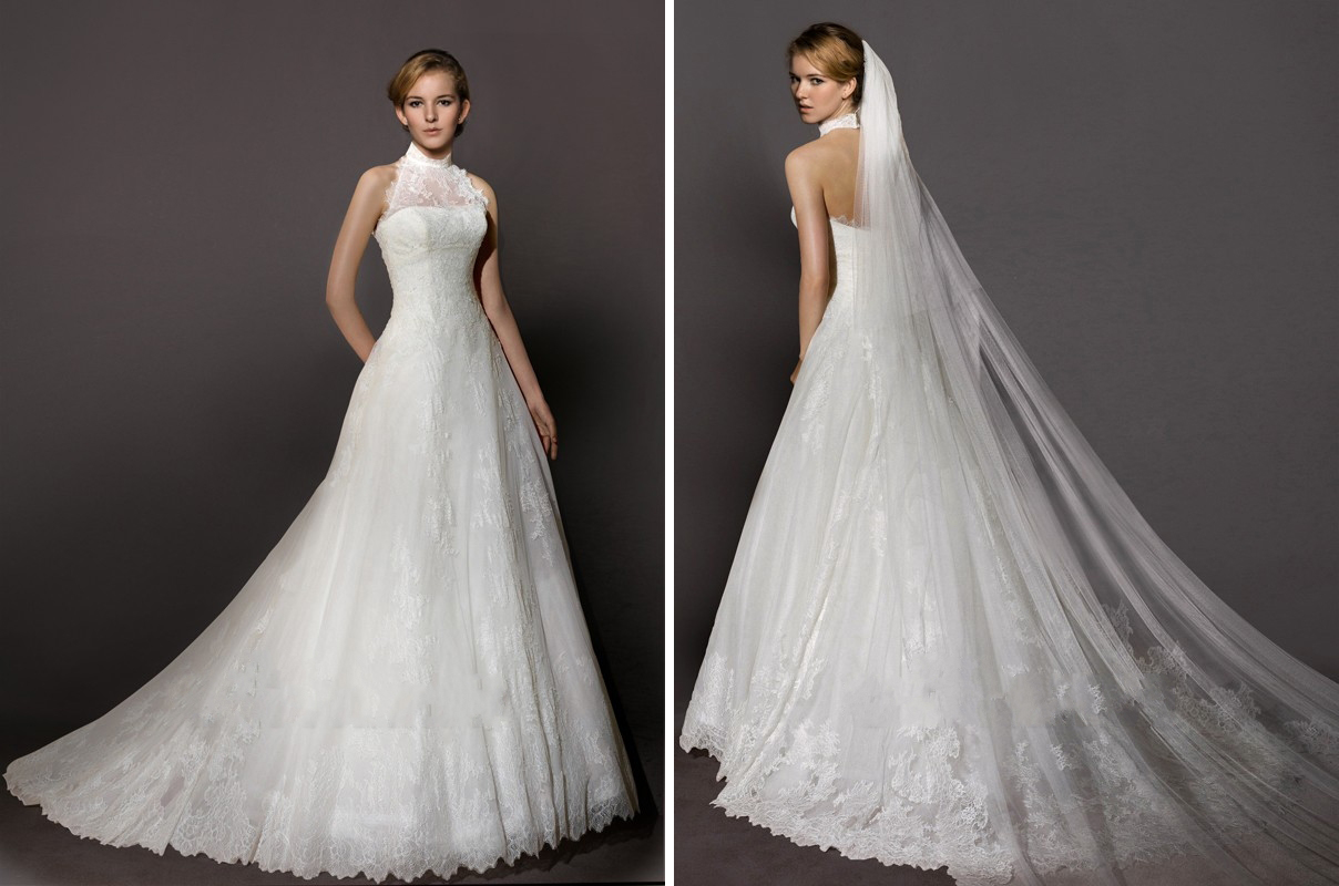 Blog For Dress Shopping: 2014 New Trend:High Neck Wedding