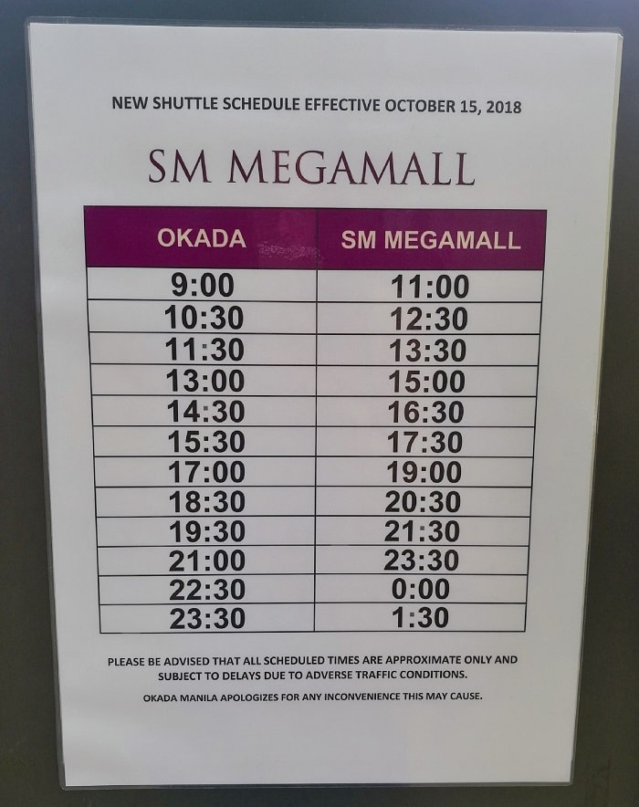 How to Commute to Okada Manila and SM MOA for Free