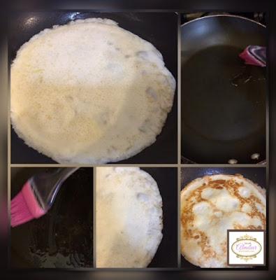 paso secundario hacer crepas en sarten