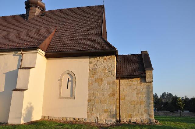 Romański kościół w Dziekanowicach