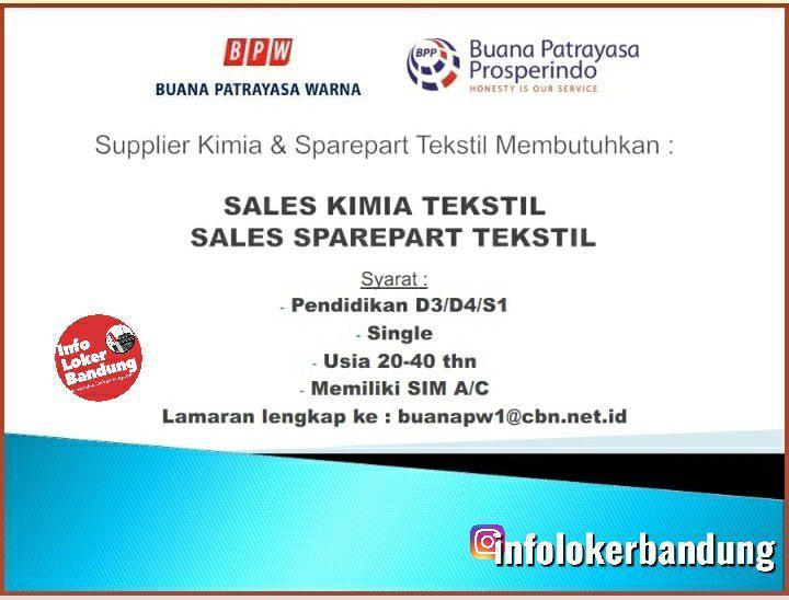 Lowongan Kerja Buana Patrayasa Warna & Buana Patrayasa Prosperindo Bandung Juli 2019