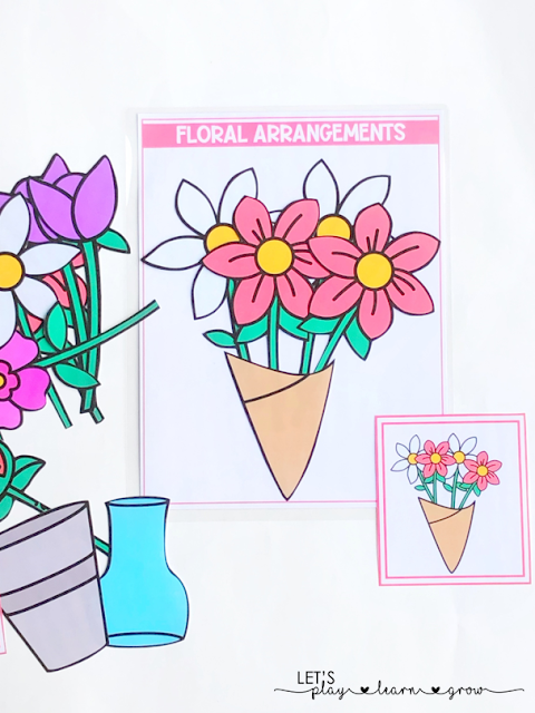 Floral Arrangements Spring Themed Activity Binder