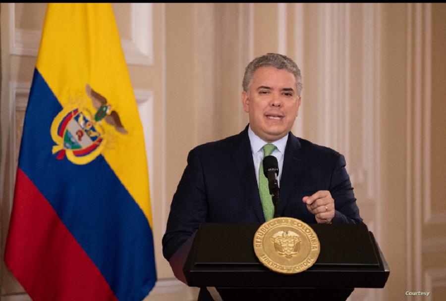 El presidente Iván Duque Márquez ha denunciado en repetidas ocasiones el amparo del gobierno en disputa de Nicolás Maduro a grupos armados como el ELN / AP