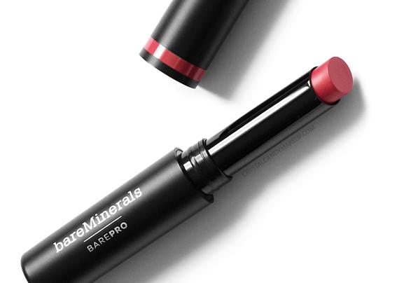 BareMinerals BarePro Longwear Lipsticks Review Geranium