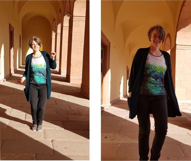 Lässiges Outfit. Fotografiert am Mannheimer Schloss.