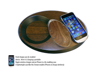 Pond Duo Wireless Charging Valet Tray for iPhone 8, iPhone 8 Plus, iPhone X