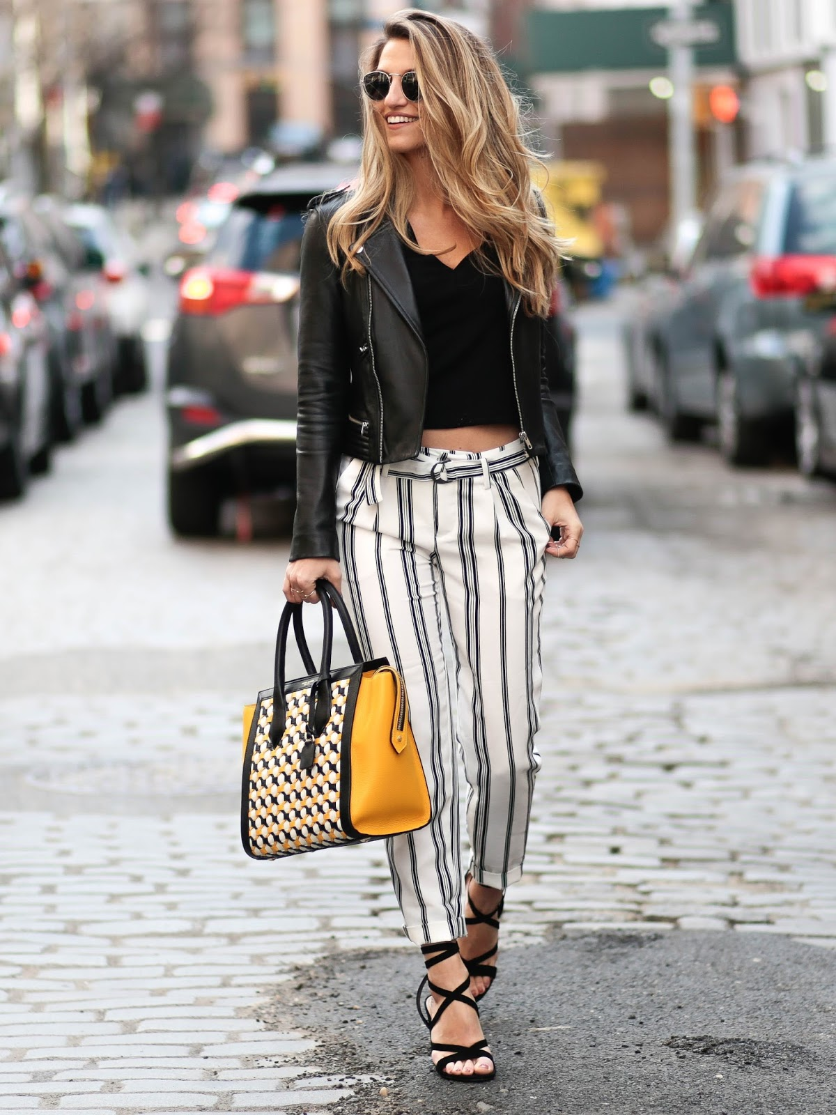 black and white striped pants, dressed for dreams