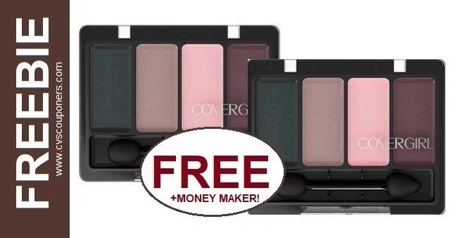 FREE CoverGirl 4-Kit Eye Shadow at CVS 3-28-4-3