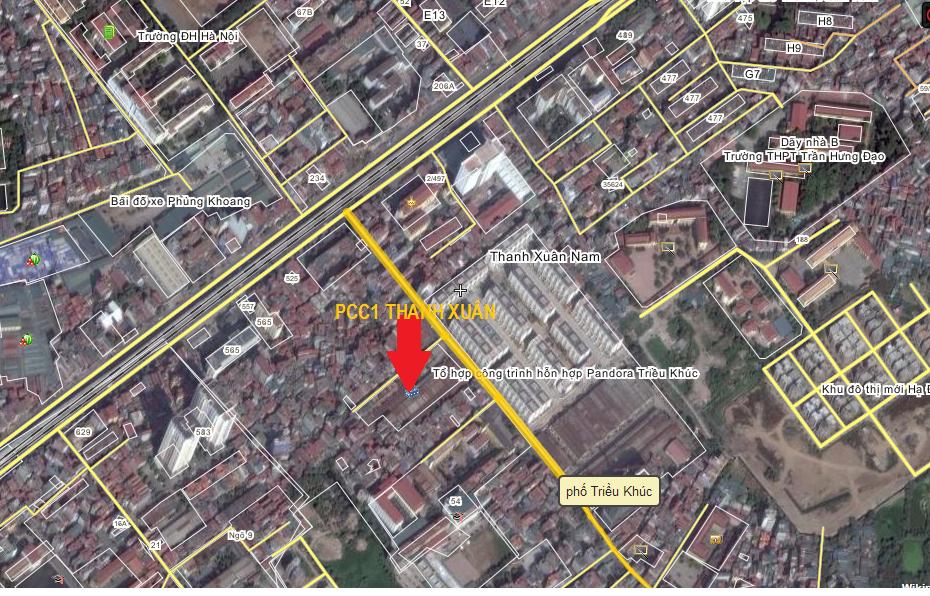 Vị trí chung cư PCC1 Thanh Xuân