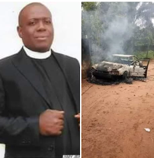 Clergyman Killed In Imo State, His Car Burnt