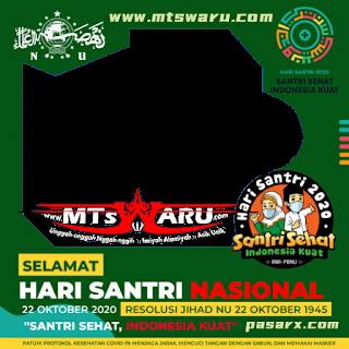 #unduh gambar/foto/logo png (transparan) #logo #harisantri  Download LOGO HARI SANTRI 2020 PNG FRAME bingkai photo profile MTS WARU com.png