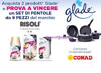 """""""Glade rinnova la tua cucina"""" : vinci Set di Pentole Risolì da 9 pezzi (valore 250€)"""