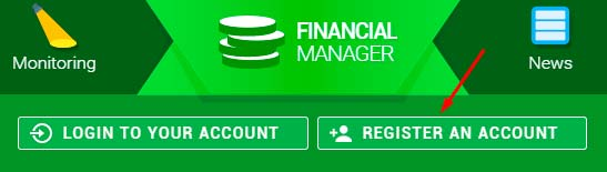 Регистрация в Financial Manager