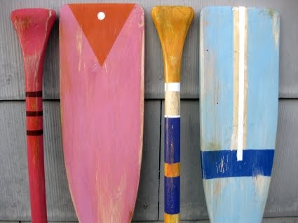 colorful art oars