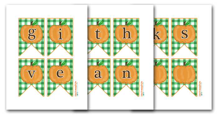 Printable Give Thanks Banner