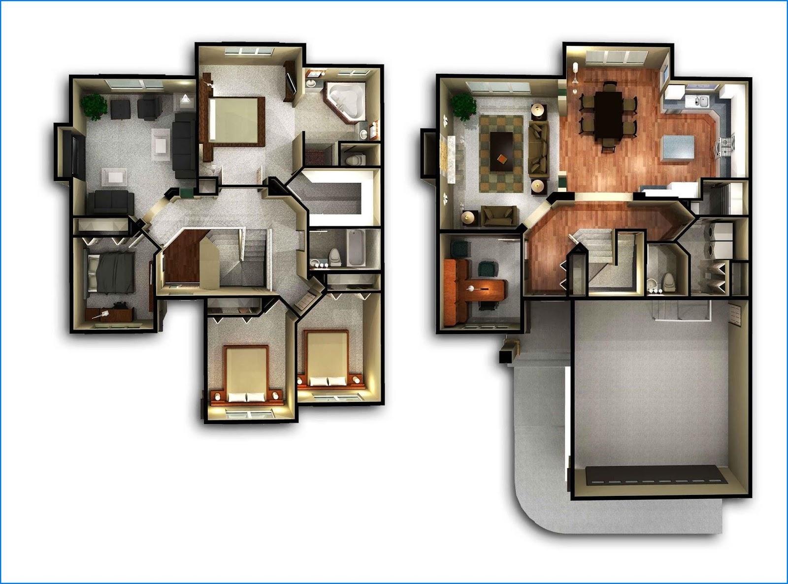 Gambar Desain Rumah Minimalis 2 Lantai Ukuran Kecil ...