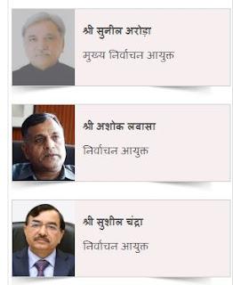 भारत के निर्वाचन आयुक्त  वर्तमान मे