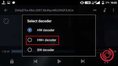4. Nantinya akan muncul pilihan Select decoder, silakan kalian pilih HW+ decoder